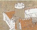 Rekonstruktionszeichnungen der Baualterszustände des Castello del Buonconsiglio Trient